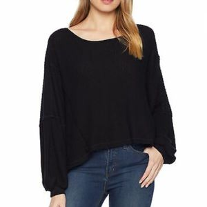Free People Love Me Open Back Long Sleeve Shirt
